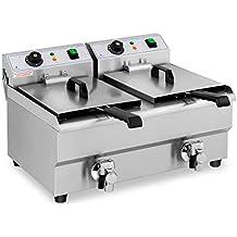Royal Catering Freidora Eléctrica Doble Para Hostelería 2 x 10 Litros 230 V RCEF 10DB (