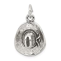 925 Sterling Silver Cowboy Hat Pendant Charm Necklace Western Man Fine Jewellery Gift For Dad Mens For Him