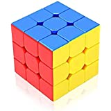 Funnytool CUB333 Magic Speed Cube 3x3x3, High Stability, Stickerless, Amazing Stress Reliever Cube Game, Easy Turning and Smooth Plastic Play Puzzle Toy, Multi-Color