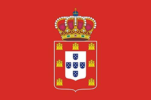 John V of Portugal | King John V of Portugal 1706-1750 and of Maria II of Portugal 1828-1853 Bandiera 20x30cm per Diplomat-Flags Bandiere per Auto