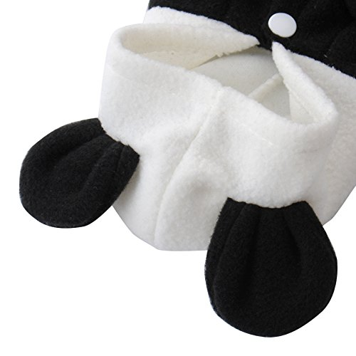 Kostüme Cartoon Halloween (Halloween Haustier Kostüm Cartoon Panda Cosplay Lion Hunde Bekleidung Welpen Katze Mantel Kleidung Jumpsuit schwarz-weiss)