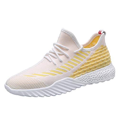 Subfamily❀Scarpe da Corsa Sportive da Uomo in Tessuto Volante Sneakers Tendenza Colore Stringate Scarpe da Corsa Scarpe Casual da Arrampicata di Moda Scarpe da Ginnastica Festa del papà