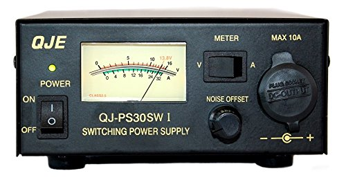 Komerci PS30SWI Festspannungsnetzgerät 13,8V 30A Schaltnetzteil mit regelbarem Entstörfilter Netzteil Netzgerät Schwarz