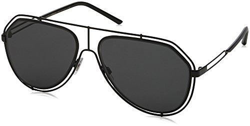 Dolce & Gabbana Herren 0DG2176 01/87 59 Sonnenbrille, Schwarz (Black/Grey),