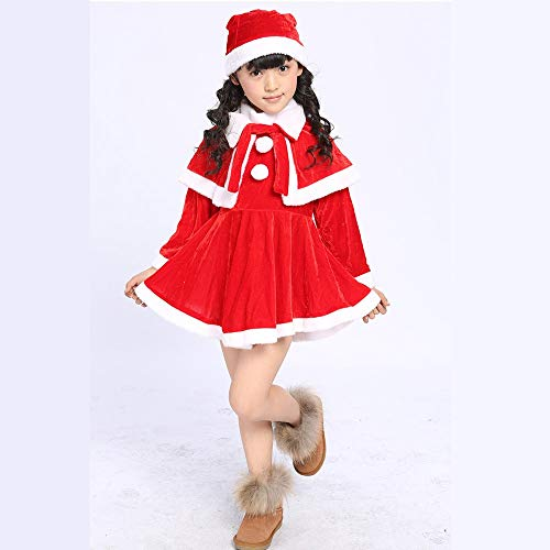 NJFJ Weihnachtsmann-Kostüm Kinder Weihnachtskleid, Mädchen, - Fifties Girl Kostüm