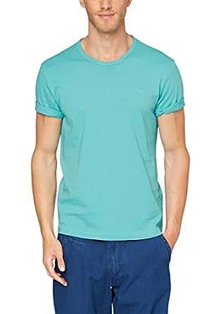 s.Oliver Herren T-Shirt Regular Fit, Einfarbig, Grün (porcelain 6634),Gr. XXX-Large (Herstellergröße:XXX-Large)
