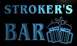 w068537-b STROKER Name Home Bar Pub Beer Mugs Cheers Neon Light Sign