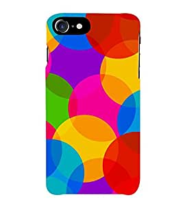 OVERLAPPING CIRCULAR PATTERN 3D Hard Polycarbonate Designer Back Case Cover for Apple iPhone 7