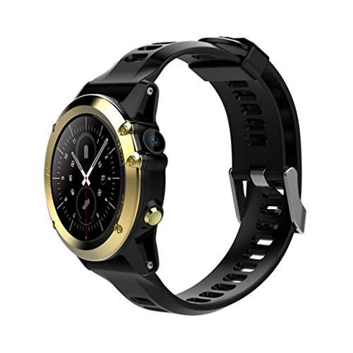 FANZIFAN Intelligente Uhr 3G WiFi intelligentes Uhr-Telefon Android4.4 MTK6572 1.39 Zoll 400 * 400 AMOLED GPS IP68 imprägniern Smartwatch mit Kamera 2.0 für Männer, Gold -