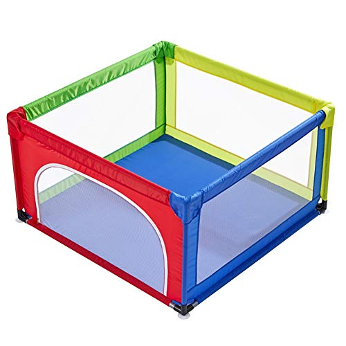 Playpens Portable Assembled Baby Play Yard with Mat and Balls, Safety Playard Game Fence for Kids/Toddler/Children, 70cm Height (color : Multicolor)  HWF Shop