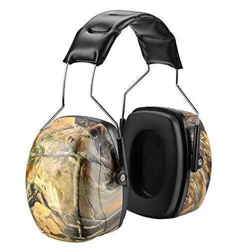 Kapselgehörschutz von ZOHAN, 056 Gehörschutz Ohrenschützer Selbstanpassend für Schieß Grasen Holzbearbeitung SNR 35db (Camo) MEHRWEG
