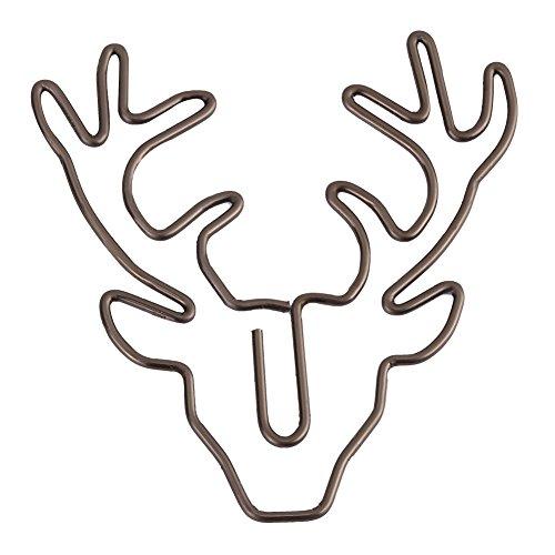 8 Stück Deer Büroklammern Elch Lesezeichen Metall In Lesen Büromaterial (Clip Halloween Cute Art)