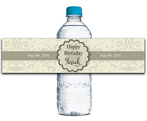 erflasche Etiketten Selbstklebende wasserdichte Kundenspezifische Geburtstags-Aufkleber 8
