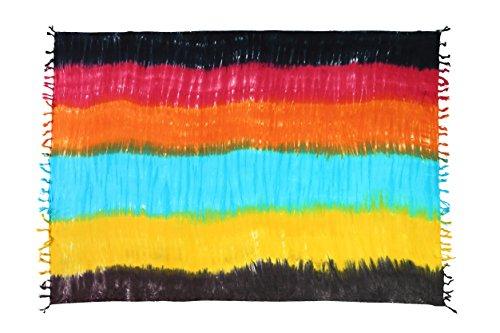 Ca 50 Modelle Sarong Pareo Wickelrock Standtücher Schals Handtuch aus der Serie Crazy Islands viele Farben Chumbe - Streifen Bunt