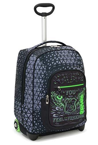 Trolley fit seven winged, nero, 35 lt, 2in1  zaino con sollevamento spallacci per uso trolley, scuola & viaggio