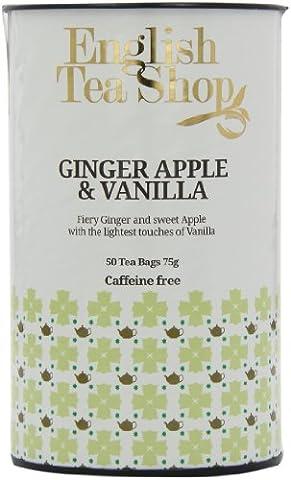 English Tea Shop X'mas Ginger Vanilla Apple Tagged Tea Bags (Pack of 3, Total 150 Tea Bags)