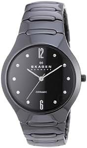 Skagen Damen-Armbanduhr Analog Quarz Keramik 817SBXBC
