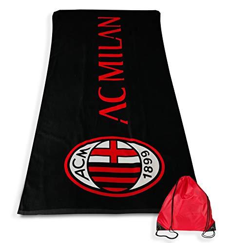 Drap de plage Sport Milan mesure Grande cm. 90x 170originale A.C. Milan