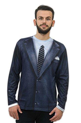 Zoelibat 14016342.008.XL - Herren T-Shirt 60's / 60er Jahre - Langarm, Größe XL (56/58), mehrfarbig (1960er Jahre Kostüme 60er Jahre Kostüme)