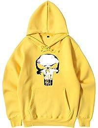 Unisex Punisher Fashion Print Sudadera con Capucha Simple Sport Abrigo de  Manga Larga para Adolescentes Clásico 02b65dfcd8f