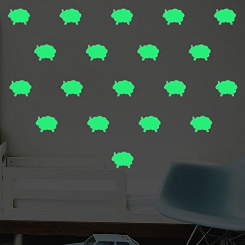 2SETS Leuchtend Wandsticker Glühend Schaf Gebunden Kreativ Kinderzimmer  Schlafzimmer Inneneinrichtun