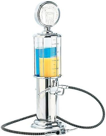 Bar Butler - Getränkespender im Design einer nostalgischen US-Zapfsäule mit 2 Zapfhähnen, Fassungsvermögen: 2x 450 ml (2 Tanks), Verchromt