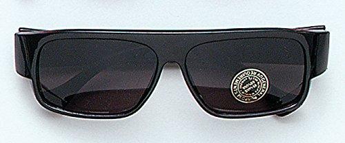 Black Wayfarer Sunglasses Pimp Gangster Rave Festival Glasses Fancy Dress
