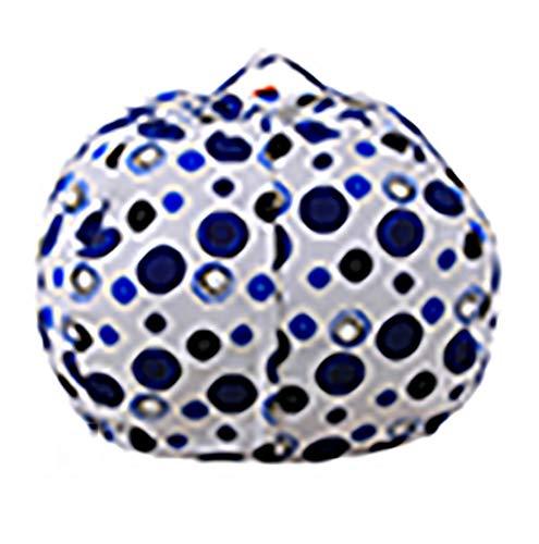 ZLQF Große Gefüllt Tier Lagerung Sitzsack Stuhl Spielzeug Organizer Ball Form 38 Zoll,White