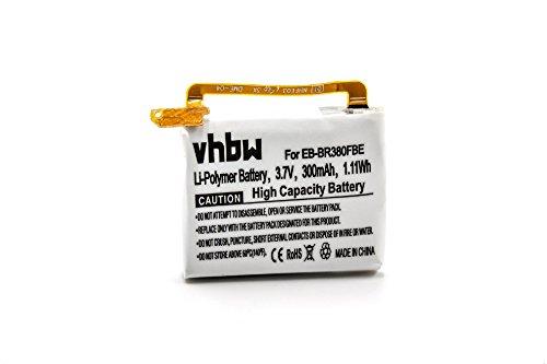 vhbw Litio-polimeri Batteria 300mAh (3.7V) per smartwatch Orologio Braccialetto Fitness Samsung Gear 2 Neo SM-R381, 2 SM-R380