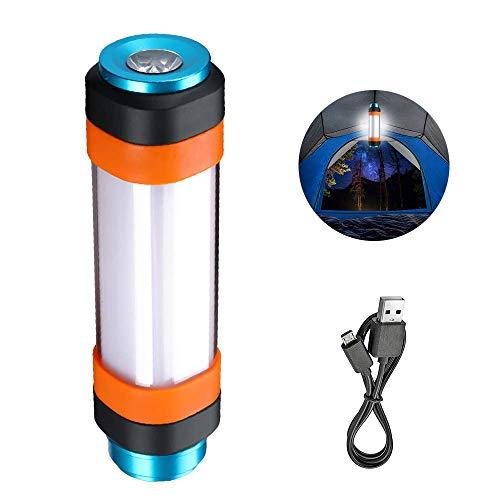 SupFire Kampierende Laterne LED Licht Multifunktionale Wasserdichte Magnetische Camping Lampe mit 18650 Batterie Enthalten, Wiederaufladbar mit USB-Kabel Direkt,6 Modi für Camping Wandern,Modell T2 - Sechs Licht-kabel
