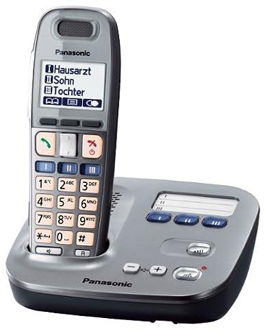 Panasonic KX-TG6571 DECT Systemtelefon mit Freisprechfunktion, Headset Anschluss