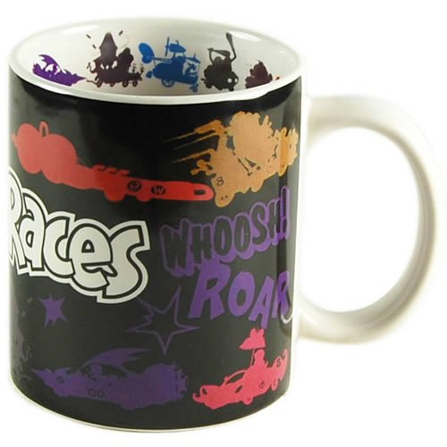 Official Wacky Races Mug, Coloured Character Silhouettes