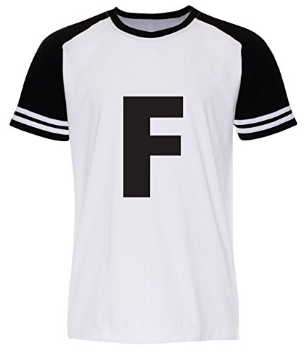 PALLAS Men's F Word Alphabet Character T-Shirt White