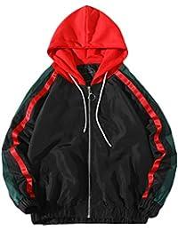 9634ee451f6ca Overdose Sudadera Hombres Patchwork Slim Fit Hoodie OtoñO Moda Outwear  Nueva Blusa Adolescente Top 2018…