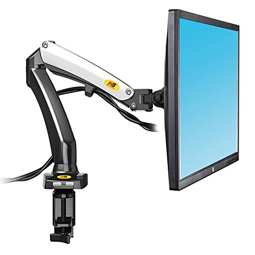 North Bayou Full Motion Computer Monitor Desk Mount Stand for 17-27 Inch Swivel LCD Monitor Arm with Gas Spring