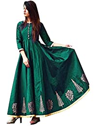 85cf694f9f jinnar Women s Semi Stitched Silk Anarkali Gown for all types of  function(Free size)