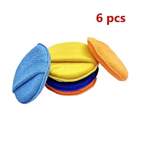 Happyit 6 Pcs Microfibre Voiture épilation / Polissage Coussin de