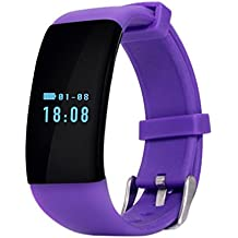 Reloj Inteligente Smartwatches Nueva banda de pulsera inteligente D21 Bluetooth Smartband Monitor de ritmo cardíaco Smart Wristband Tracker Fitness Watch para Android e IOS , purple