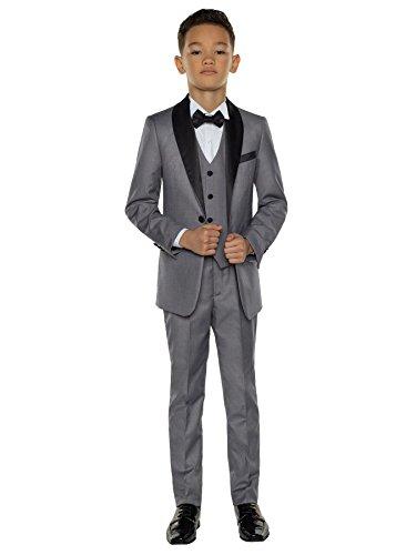 Paisley of London Jungen Anzug * Gr. 8 Jahre, grau (Jungen Grau Anzüge)