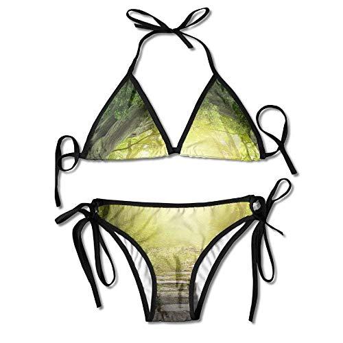 7c77e848a9f The Road in The Magic Schwarzwald Women s Tie Side Bottom Bikini Suits Two  Pieces Swimwear