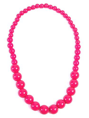 Forum Novelties Pop Art Big Pearl Halskette, Damen, Rosa, One Size, (Forum Spitzen Kostüme)
