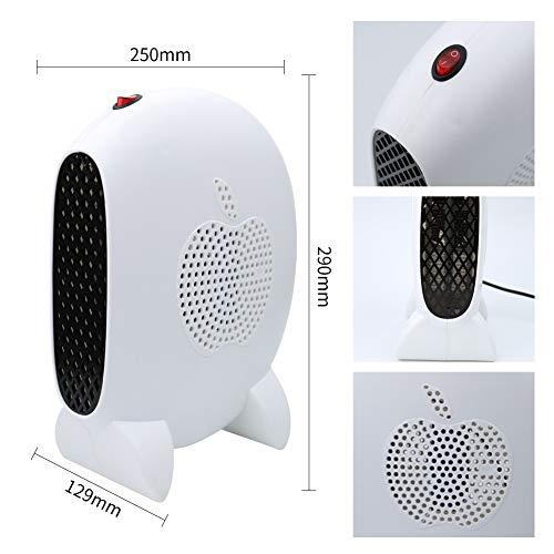 Calefactor Portátil,  Comfort Compact Calefactor,  Calentadores eléctricos 1000W -  Mini radiador de ventilador,  calefacción auxiliar con temperatura constante automática,  diseño de dormitorio de oficina