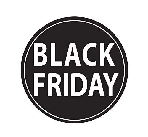 adesivo vetrofania negozio black friday saldi sconti promozione adesivo venerdi nero Adesivo4You.com (Nero (Medium 55x55 cm.))
