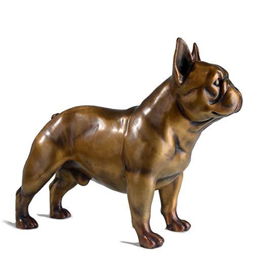 AINIYF Escultura de Perro de Cobre Puro