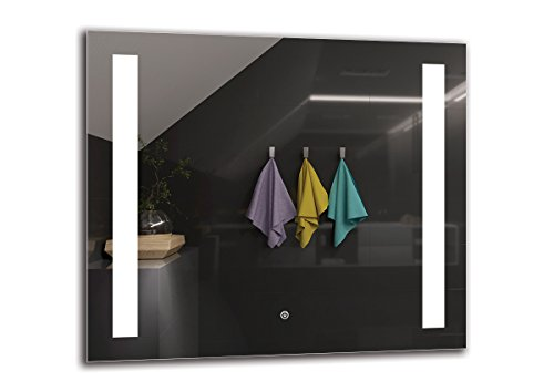 Espejo LED Deluxe   Dimensiones Espejo 80x70 cm