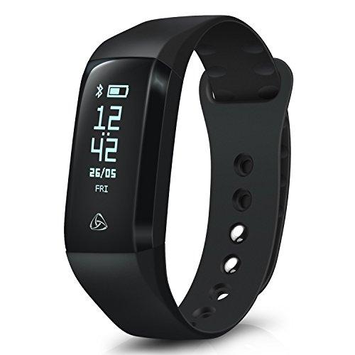 August Smarter Fitness-Tracker SWB200 - Intelligentes Fitness-Armband mit App, OLED Display und Benachrichtigungen (30 Tage Akkulaufzeit)