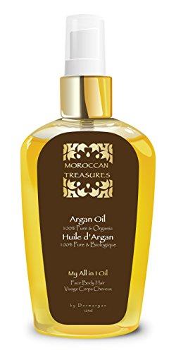 Reines Arganöl 125ml. 100% kalt gepresst und zertifiziert biologisch. 100% Bio Gesicht öl, Haaröl. Anti-Aging, Anti-Falten / Feuchtigkeitspflege für junge Haut & Gesicht, Haare & Nägel (Schnell öl Für Das Haarwachstum)