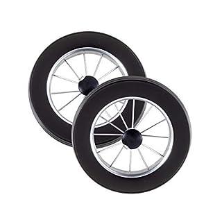 Andersen Replacement Wheels for Shopping Trolley Suitable for Royal, Scala, Unus, Alu Star, Tura Ball Bearings or Smooth Bearings, Black, 2 Räder f. Royal: Ø 25 cm, Metallspeichen