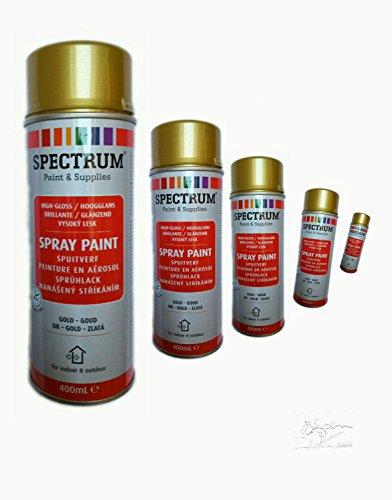 Preisvergleich Produktbild Lackspray Sprühlack Lackfarbe Acryllack 400 ml Gold glänzend