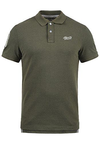 Blend Ludger Herren Poloshirt Polohemd T-Shirt Shirt Mit Polokragen, Größe:L, Farbe:Dusty Green (70595) -